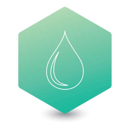 Water drop icon. Vector illustration Ilustrace