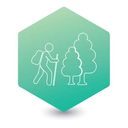 Hiking icon illustration isolated vector sign symbol Ilustrace