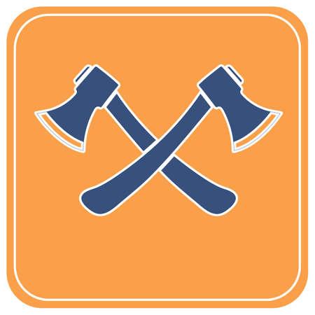The ax icon. Axe symbol. Flat Vector illustration   Ilustrace