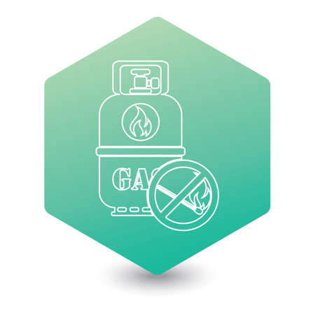 Camping gas bottle icon. Flat icon isolated. Vector illustration Ilustrace