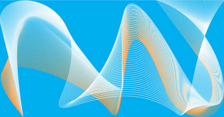 Abstract templates with curved lines. Wavy blended simple background