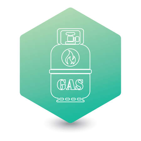 Camping gas bottle icon. Flat icon isolated.