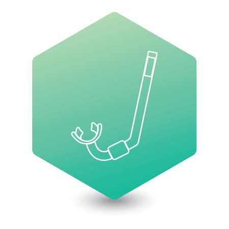 Diving Snorkel Icon. Tube for diving illustration isolated 向量圖像