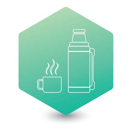 container icon, camping and hiking equipment. Vector illustration