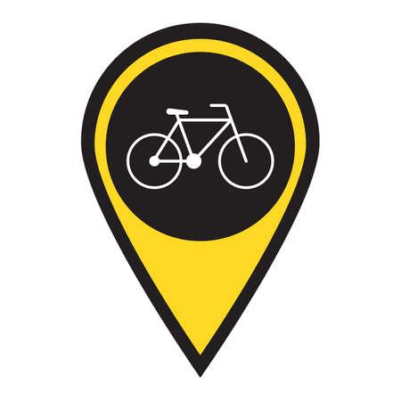 Bicycle / bike icon vector illustration