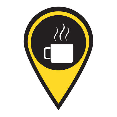 Camping cup icon. Tourist mug isolated. Illustration