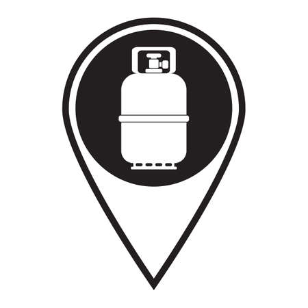 Camping gas bottle icon. Flat icon isolated. Vector illustration 向量圖像