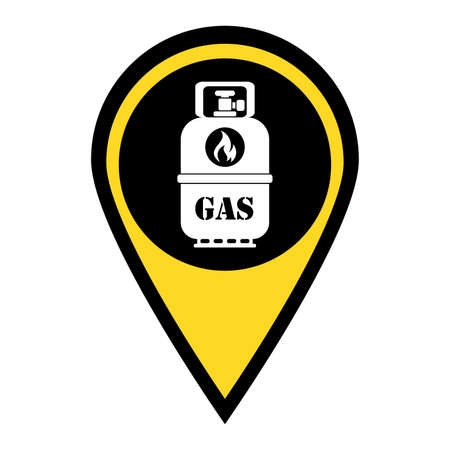 Camping gas bottle icon. Flat icon isolated. Vector illustration Illusztráció
