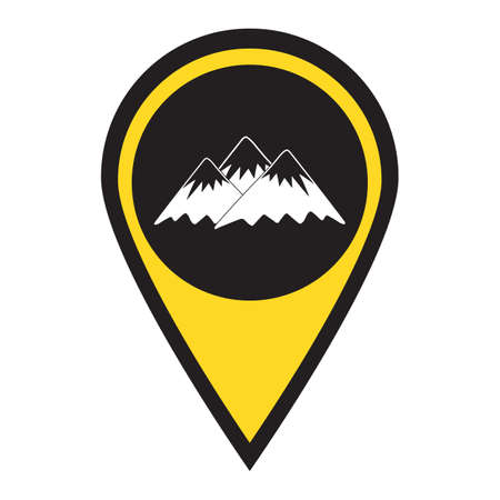 Mountain icon. Vector concept illustration for design