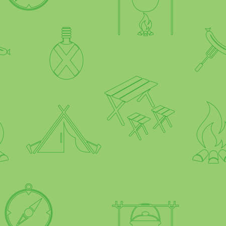 Seamless background of icons for travel services. Vector illustration