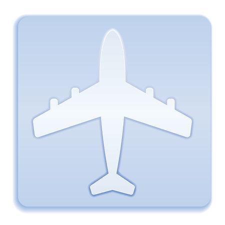 Pplane icon simple flat vector illustration 矢量图像
