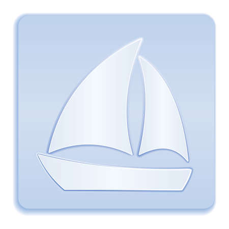 Sailboat icon simple flat style vector sign 矢量图像