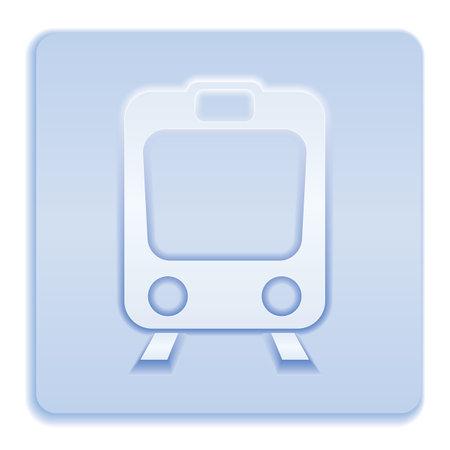 Train icon isolated. High speed train. Metro train symbol. Vector illustration