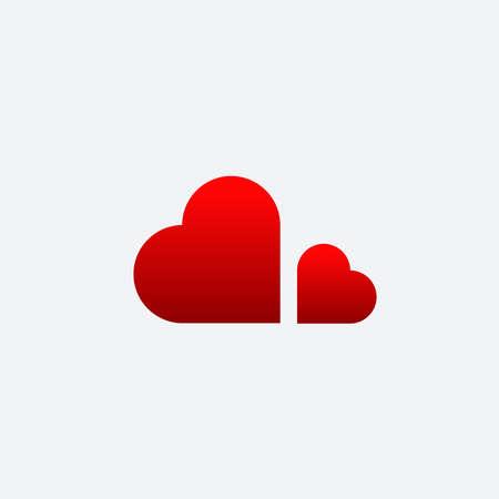 cloud love vector, cloud love