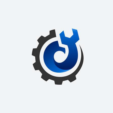 mechanic with gear  ,  mechanics gear  template