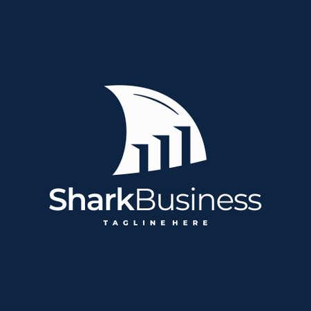 finance logo with shark concept