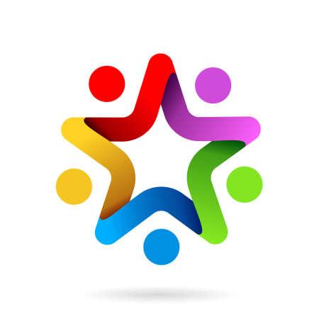 star team work symbol, star team work logo