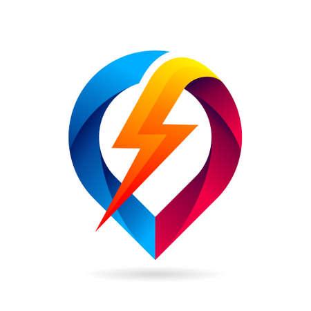 pin thunder light vector logo Logos