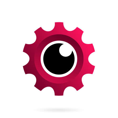 gear eye logo, eye camera gear logo
