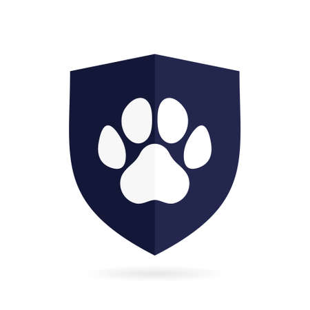 animal shield vector logo symbol Illustration