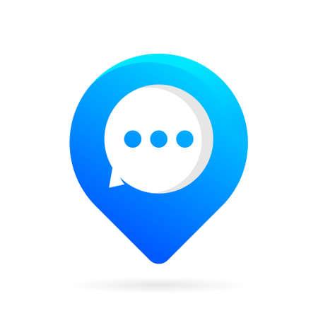 chat location logo vector symbol Illustration