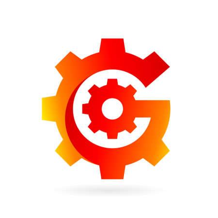 gear letter g logo vector Illustration