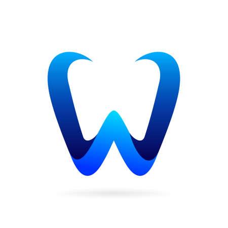 letter w logo vector symbol Illustration