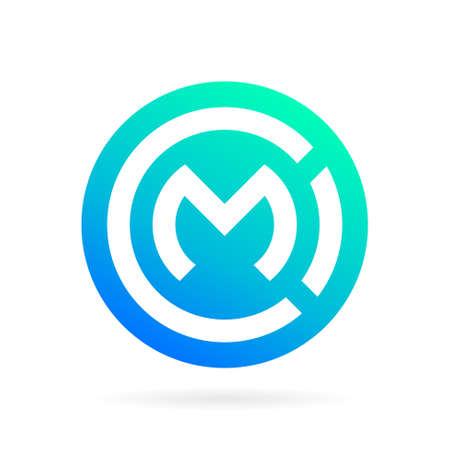 Cm logo with circle symbol