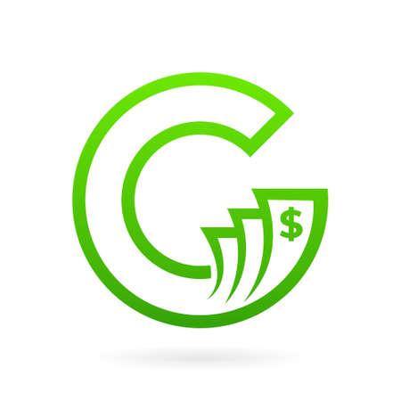 cash money letter c logo