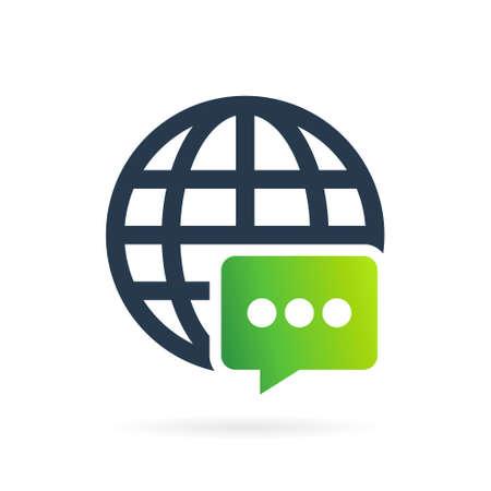 world chat logo vector symbol Illustration