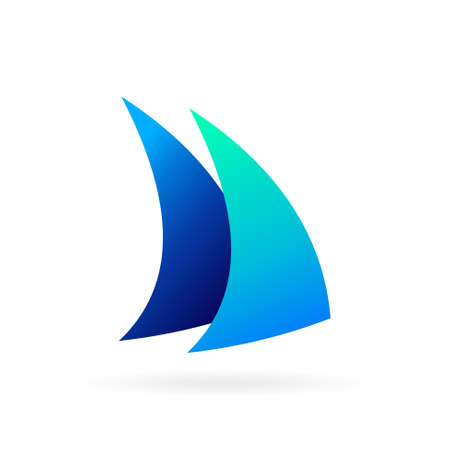 two fin logo with bold symbol