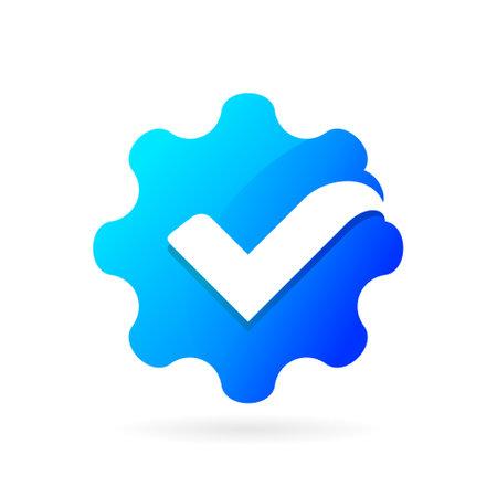 gear check logo vector symbol