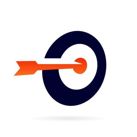 circle target logo design template