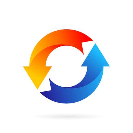 arrow circle symbol logo template