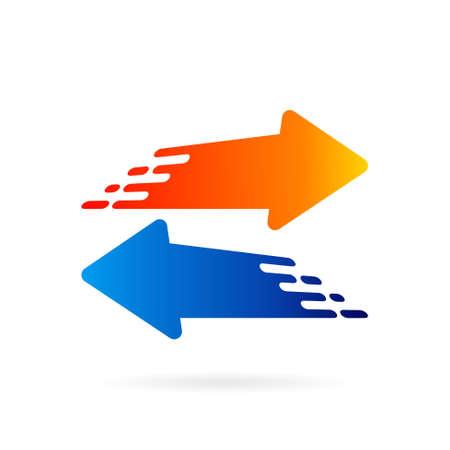 fast arrow direction vector template Illustration