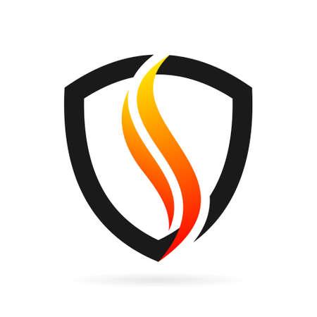 fire logo in shield symbol
