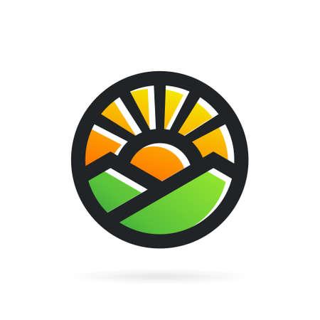 sun and mountain logo