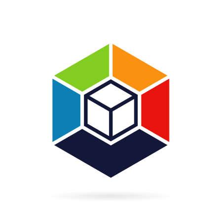 box color logo vector template