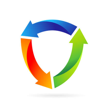 arrow shield logo design