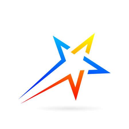 shooting star logo design symbol Illustration