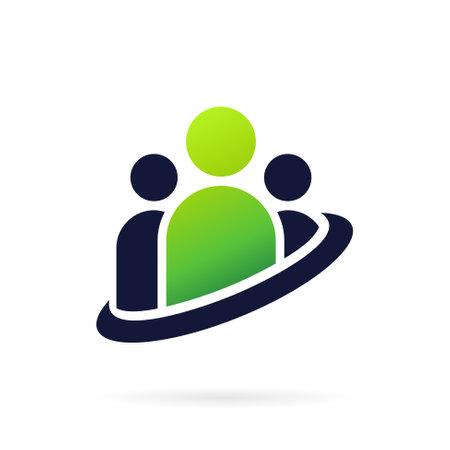 people team work logo template
