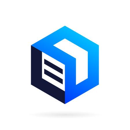 arrow box vector logo design