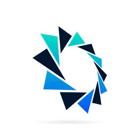 circle shutter vector logo design
