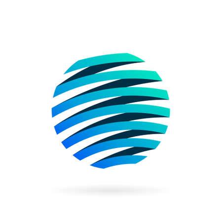 world ribbon logo with bold concept