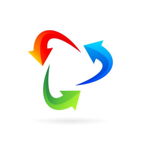 arrow logo that forming media play symbol