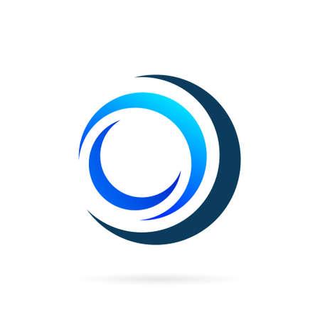 circular water vector logo design Illustration