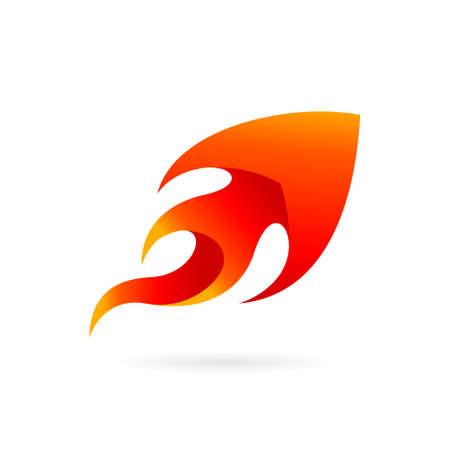 arrow fire vector logo design Illustration