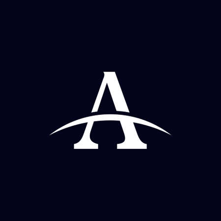 letter a logo design with luxury concept