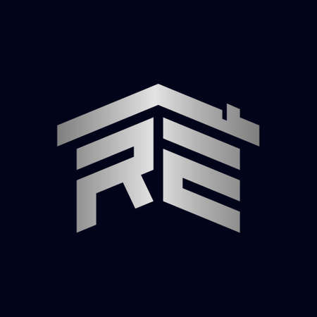 RE logo forming home symbol