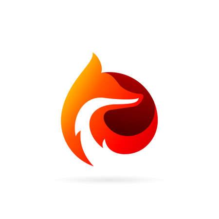 wolf circle vector logo design